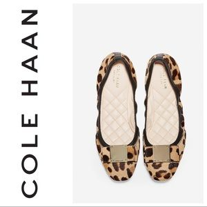 Cole Haan Tali Grand Bow Ocelot print ballet flats